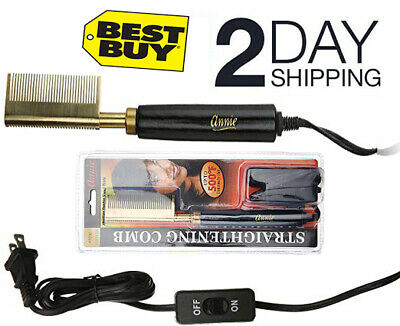 Pro Hair Straightener Hot Comb Heated Straightening Styling Co Electric Cord 15 99 Picclick
