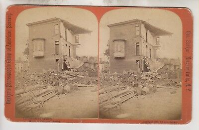 1889 Stereoview - Johnstown Flood - House Of Sisters Of Charity - Pennsylvania