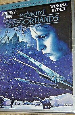 Edward Scissorhands 1990 DVD WS Johnny Depp Winona Ryder / PAMPHLET 10th Ann ED