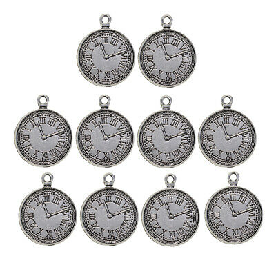 10 Antique Silver Round Cabochon Settings Bezels 31mm inner 25mm Pendant Tray