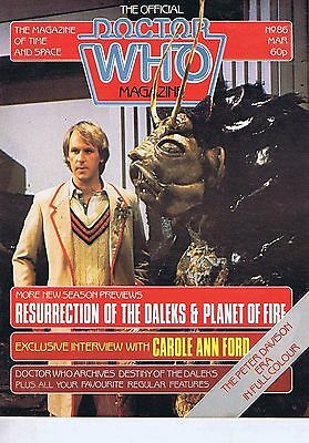 DR WHO MAGAZINE no. 86