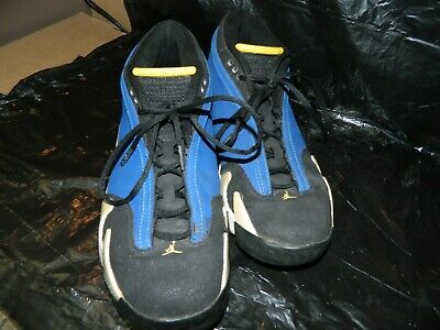 5ae4a7bdb35 AIR JORDAN 14 XIV RETRO LOW LANEY ROYAL/MAIZE BLACK WHITE 807511-405 Size