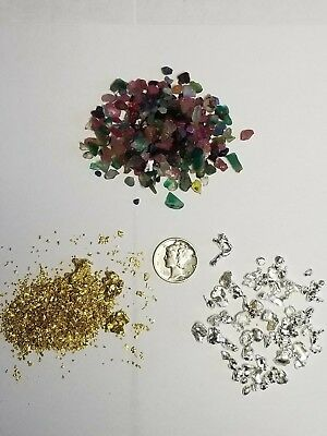 Gold Pay dirt 4 oz 100% Unsearched and Guaranteed Added GOLD! Panning Nuggets