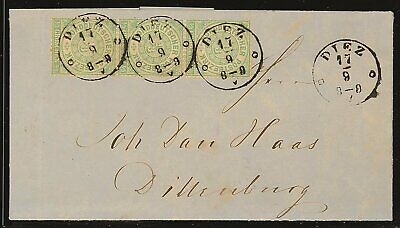 23431) Thurn & Taxis Nachverwendungen NDP 14(3) Brief DIEZ 17/8 (1869) K1