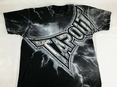 2b7f5f3f TAPOUT T-SHIRT MENS Size S Black Tee Short Sleeve Crew Walking the ...