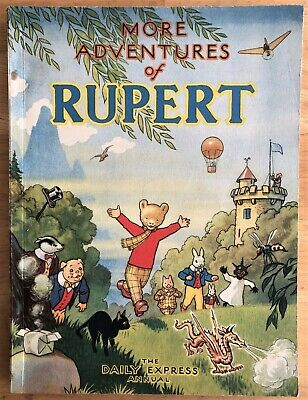 RUPERT 1947 RUPERT BEAR Annual 1947 NOT Inscribed NOT Price clipped Spectacular!