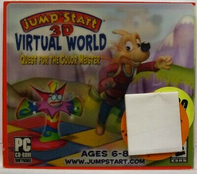 f25b754fb0e4 Video Game PC Jump Start 3D Virtual World Quest for the Color Meister NEW  Jewel