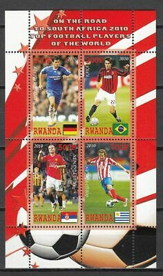 Football / Soccer / Fussball - WM 2010:  Ruanda  Klb 3 **, perf.