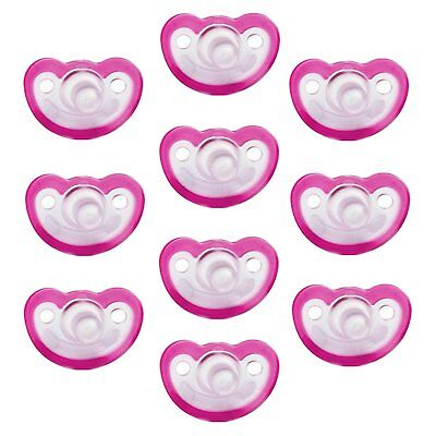 Razbaby JollyPop 3+ Months Pacifier 10 Pack Unscented - Pink