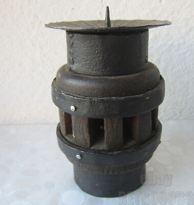 Antique primitive Wagon Wheel Hub table candle holder / stand, candlestick ../1/
