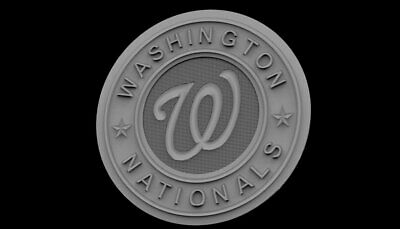 "3d stl Model for CNC Router Machine Artcam Vectric Aspire ""Washington Nationals"""