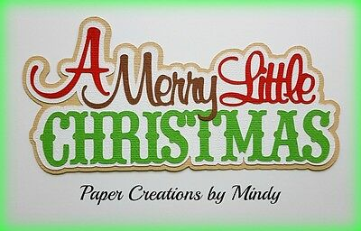 CRAFTECAFE MINDY COOKIES FOR SANTA TITLE  premade paper piecing scrapbook page