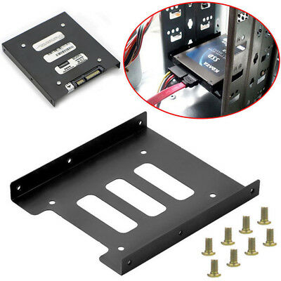 "2.5/"" SSD HDD to 3.5/"" Mounting Adapter Bracket Tray Dock for PC SSD Holder ATXCYA"
