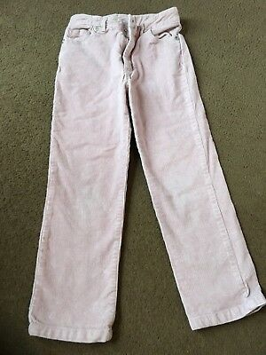 Girls 4-5 Years Fitted Slim Corduroy Pink Trousers The White Company S/N108
