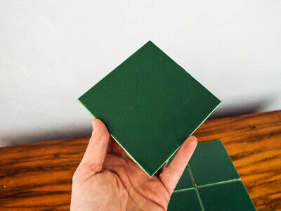 Set 9 Green Vintage Ceramic Wall Tile Pomona California Pottery American Square