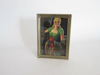 Vintage Pin Up Girl Sexy Blonde Female Litho Framed Print by Billy De Vorss
