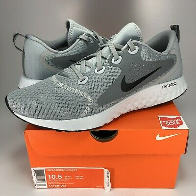 eed636a3b2121 NEW Nike Legend React Wolf Grey Size 10.5 DS black white AA1625-003 running  men