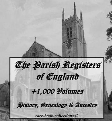 +1,000 Parish Registers 4 Dvd - Genealogy English Ancestry People Family History