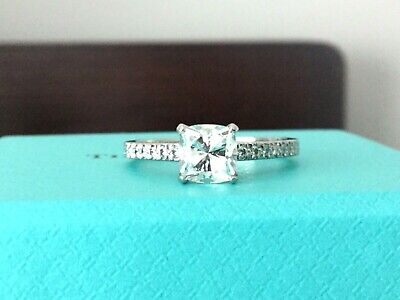 8465bce691b45 TIFFANY & CO PLATINUM NOVO DIAMOND ENGAGEMENT RING 1.25 CT H VS2 $18k Retail