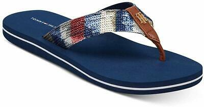031cc83a Tommy Hilfiger Womens Contina Thong Sequined Flip-Flops, Blue, Size 7.0