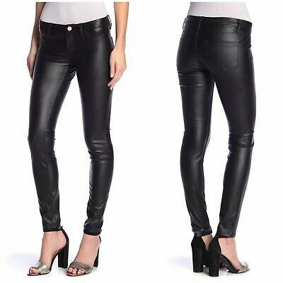 NWT Blank NYC Lace Up Skinny in With Friends Black Vegan Faux Leather Pants 29