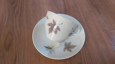 Vintage 1960s/70s Royal Doulton Tea Cup & Saucer Tumbling Leaves TC1004  VGC