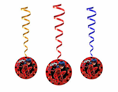 LadyBug Birthday Party Decorations Spiral Pendants Miraculous Party
