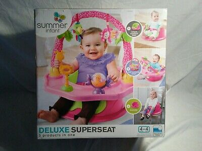 Summer Infant Deluxe Superseat 3-in-1 Booster, Activity, and Floor Seat M.I.B.