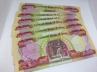 Authentic 25,000 Uncirculated Notes 150,000 IRAQI DINAR - Fast Delivery 6