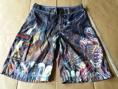 8a8fd3fe188f2 Iron Maiden DRAGONFLY Boardshorts SOMEWHERE IN TIME SIZE 29 EDDIE VERY GOOD  IRON