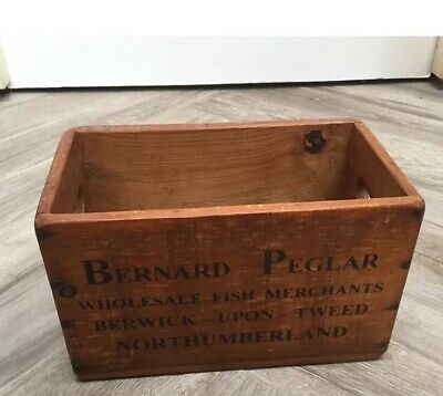 Vintage Style wooden Fish Crate Bernard Pegar Berwick-upon-Tweed Bathroom Store