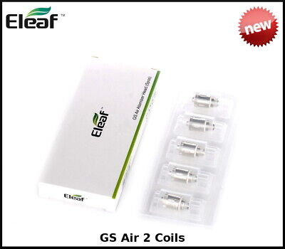 ELEAF GS AIR 2 TANK, iStick, Replacement Coils GS Air 0.75ohm, 1.5ohm Coil Heads