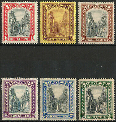 Bahamas 1911-19 KGV Queen's Staircase set of 6 mint stamps  Lightly Hinged
