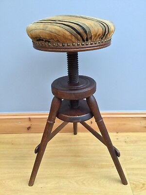 Vintage Potters Artists Stool Corkscrew Swivel Chair Antique Piano Industrial