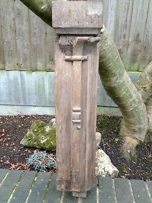 Antique Oak Column Wall Bracket 16th Century Large Corbel Sconce Architectural