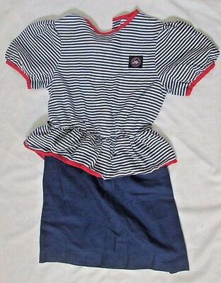 Spring Occasions vintage girls 6X sailor dress costume red blue white striped