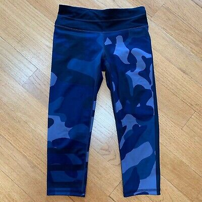 ec82e5b23aaf5 ATHLETA BLUE CAMO Capri Crop Fitted Tights Women's Size XS Running Yoga  Fitness - $39.99 | PicClick