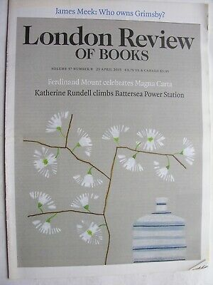 LONDON REVIEW OF BOOKS April 2015 Ian Curtis Joy Division Magna Carta Grimsby