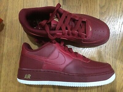 pick up 6c763 8ed7d New Nike Air Force 1 Kids boy girl team Red shoes Sneaker Size 4Y Youth GS