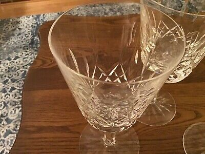 "Waterford Crystal Lismore 6 7/8"" Two Water and One Wine Goblet"