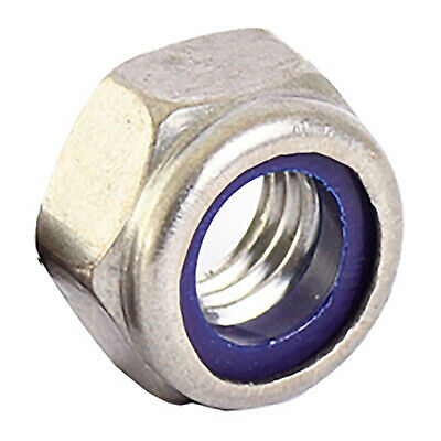 Nyloc M12 Nut - Metric - Marine Grade - A4 Stainless Steel - Fits 12mm Bolt