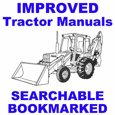 Ford 455C 555C 655C Tractor TLB SERVICE REPAIR SHOP MANUAL Loader Backhoe on CD