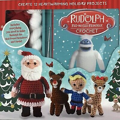 Rudolph The Red-Nosed Reindeer Santa Christmas Complete Crochet Kit NEW IN BOX!