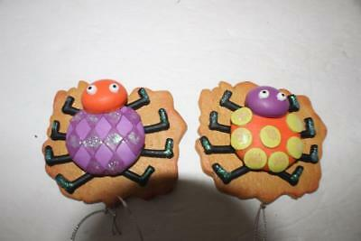 """NEW Halloween Ornament Cookie Lady Bug Spider 3"""" x 3.5"""" Christmas Tree Party"""