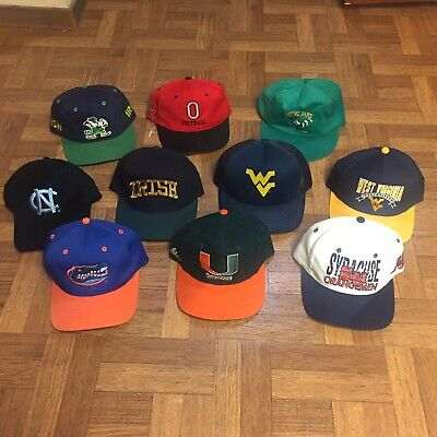 dcaf51ecf06b8d 10 Vintage Sports Hat Lot Rare Vtg 90s Cap Snapback NCAA Sports Specialties  80s