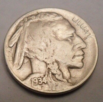"1934 D Indian Head ""buffalo"" Nickel  *ag Or Better*   **free Shipping**"