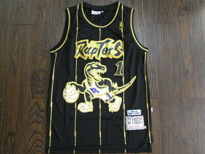 645ef2bd2 Toronto Raptors Tracy McGrady  1 Black Throwback Swingman Jersey Size S-XXL