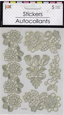 Lace-look Laser Cut (Self-stick) Roses (5 total)