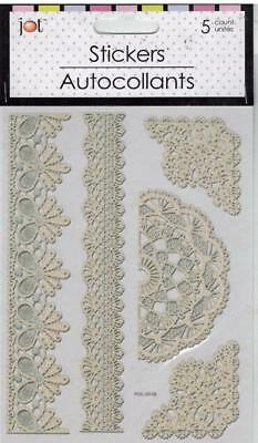 Lace-look Laser Cut (Self-stick) Corners & Borders (5 total)