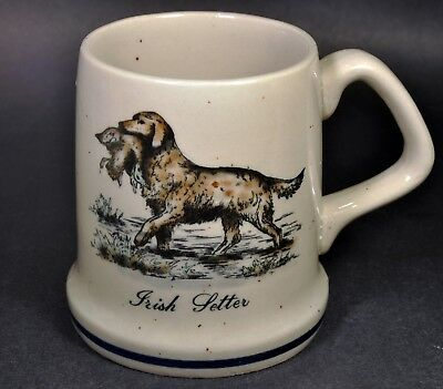 Vintage Irish Setter Stoneware Rugged 11oz. Coffee Mug Cup